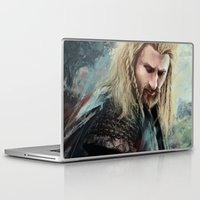 fili Laptop & iPad Skins featuring Fili Heir of Durin by Alba Palacio