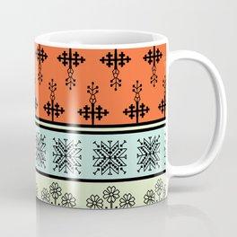 folk embroidery, flowers, birds, peacocks, horse, symbols earth, sun fertility, harvesting Coffee Mug