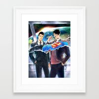 heroes Framed Art Prints featuring Heroes by Hai-ning