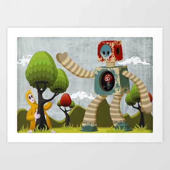 Woody Mecha Art Print