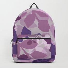 Ultra Violet Purple Lavender Leaves Pattern Backpack