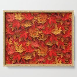 Autumn Case Fall Leaves Serving Tray