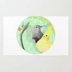 Two Cockatiels Rug