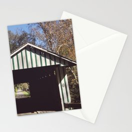 Seeing through a covered bridge Stationery Cards