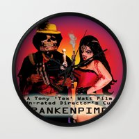 movie poster Wall Clocks featuring Frankenpimp (2009) - Movie Poster by Tex Watt