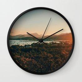 Sunset at the Bay Wall Clock