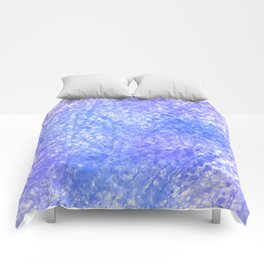 Bright Blue Purple Abstract Painting Comforters
