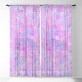Funfetti (Preppy Abstract Pattern) Sheer Curtain