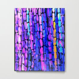 Yellow Sugarcane on Pink and Blue Metal Print