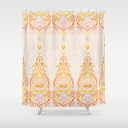 Boho Sunset Doodle Shower Curtain