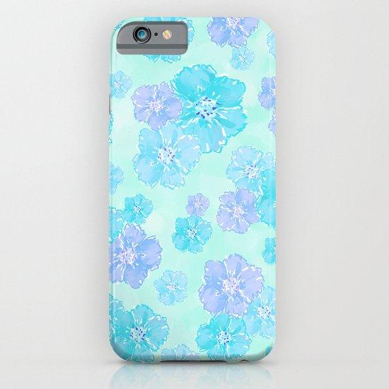 Blossoms Aqua Blue Mint iPhone & iPod Case