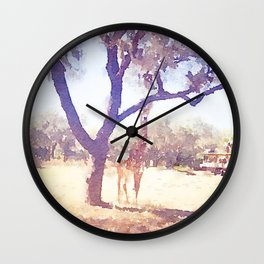 Giraffe Painting 2 Wall Clock