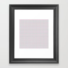Gingham pink and forest green Framed Art Print