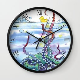 Bath Time Octopus Wall Clock
