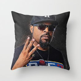Ice Cube Throw Pillow