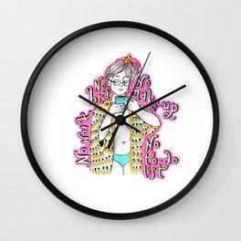 No bra, no work, no make-up Wall Clock