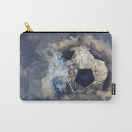 Abstract Grunge Soccer Carry-All Pouch