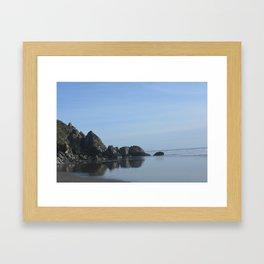 Stinson Beach Reflections  Framed Art Print