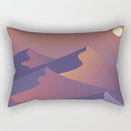 sunset dunes digital art Rectangular Pillow