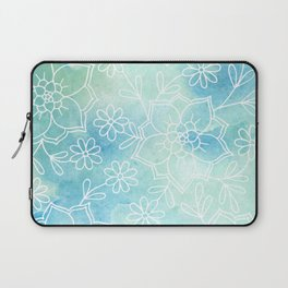 Watercolour abstract floral 2 Laptop Sleeve