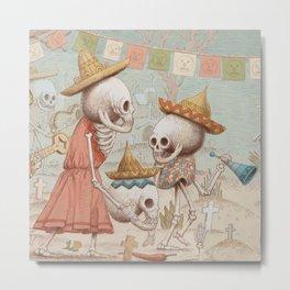 Mexican Skulls 3 Metal Print