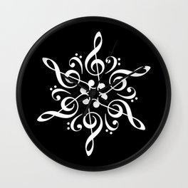 Invert sol key mandala Wall Clock