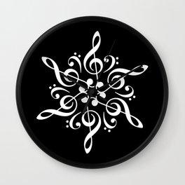 Invert sol key mandala Wall Clock