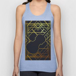 Art Deco Violin Unisex Tank Top
