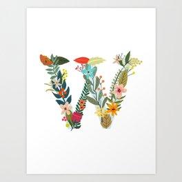 Monogram Letter W Art Print