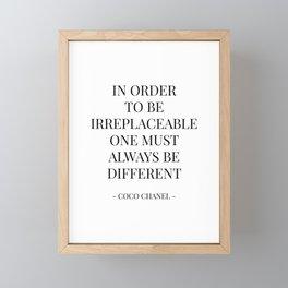 Inspirational Fashion Quote Framed Mini Art Print