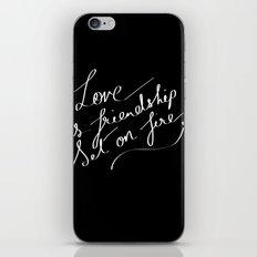 LOVE & FIRE iPhone & iPod Skin