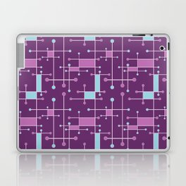 Intersecting Lines in Purple, Pink and Blue Laptop & iPad Skin