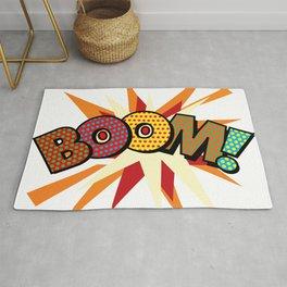 BOOM Comic Book Modern Pop Art Typographic Fun Graphic Rug