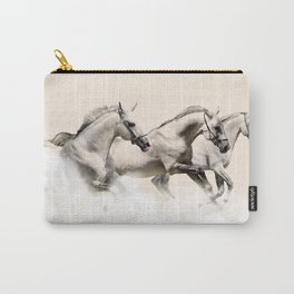 horses prancing in the clouds Carry-All Pouch