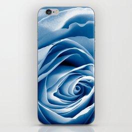 Blue Rose Macro iPhone Skin