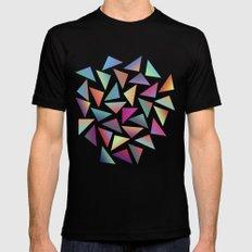 Geometric Pattern III Mens Fitted Tee LARGE Black