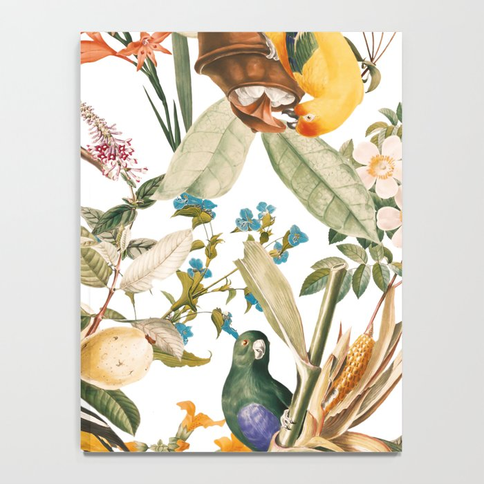 Floral and Birds XXXII Notebook