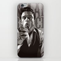 johnny cash iPhone & iPod Skins featuring Johnny Cash by Denis O'Sullivan