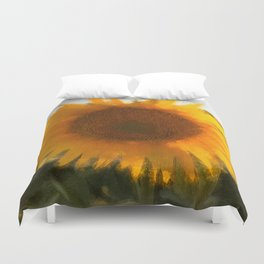 love yellow Duvet Cover