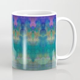 Tribal Diamonds Watercolour Blue Coffee Mug