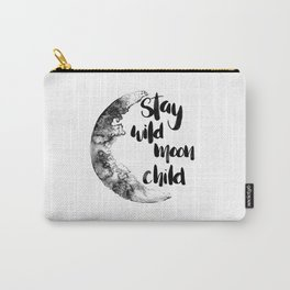 Stay Wild Moon Child Watercolor Carry-All Pouch