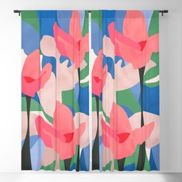 From the mud of adversity grows the lotus of joy Blackout Curtain