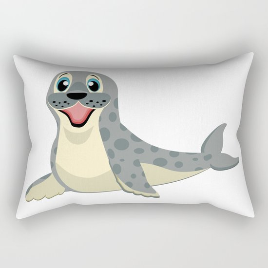 Smiling Baby Seal Rectangular Pillow