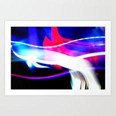 Photo Light Painting Art Print