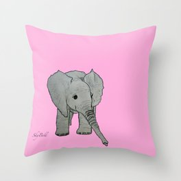Emma Sweet Pea Throw Pillow