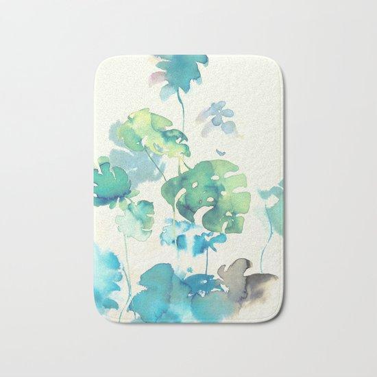 Tropical Leaves Collab. Dylan Silva Bath Mat