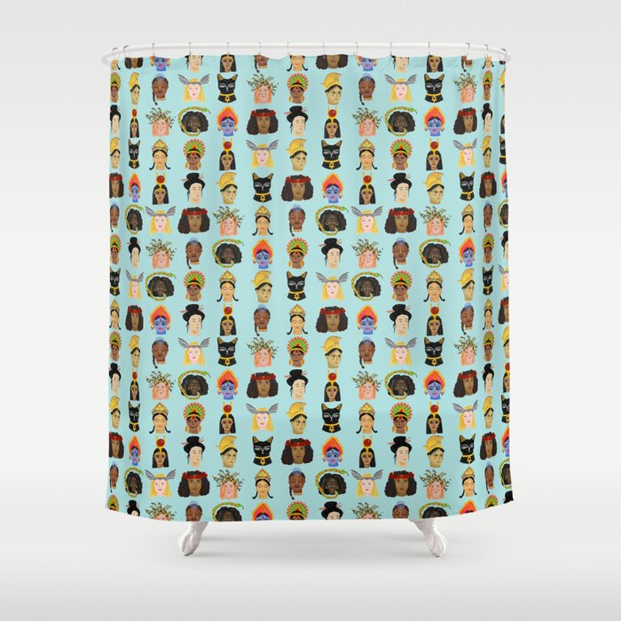 Goddesses Around The World Shower Curtain