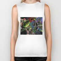 teenage mutant ninja turtles Biker Tanks featuring Teenage Mutant Ninja Turtles by artbywilliam