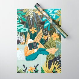 How To Live In The Jungle #illustration #painting Wrapping Paper