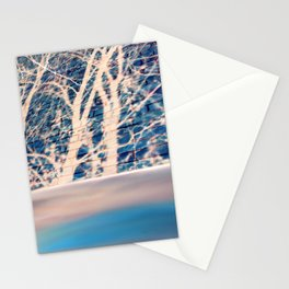 Brick trees and digital drawing Stationery Cards